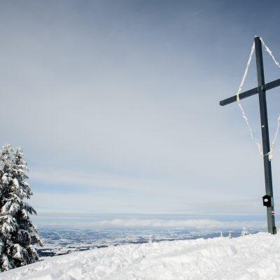 Winterly tour to Wertacher Hörnle, Unterjoch, Allgäu