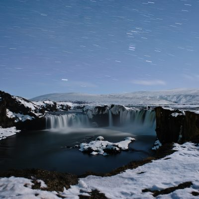 Godafoss at night