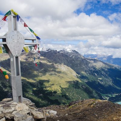 Summit of Vordere Rotspitze (3033m) in Martell Valley