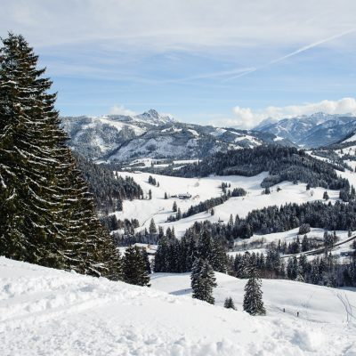 View from Wertacher Hörnle into the Tannheim Valley (AT), Unterjoch, Allgäu