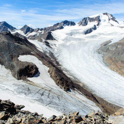 Weißkugel (3.738m) mit Hintereisferner